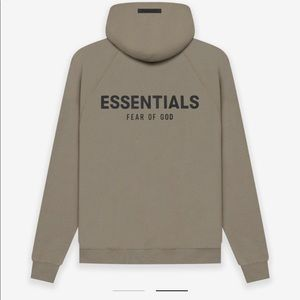 ESSENTIALS FEAR OF GOD TAUPE HOODIE, XL